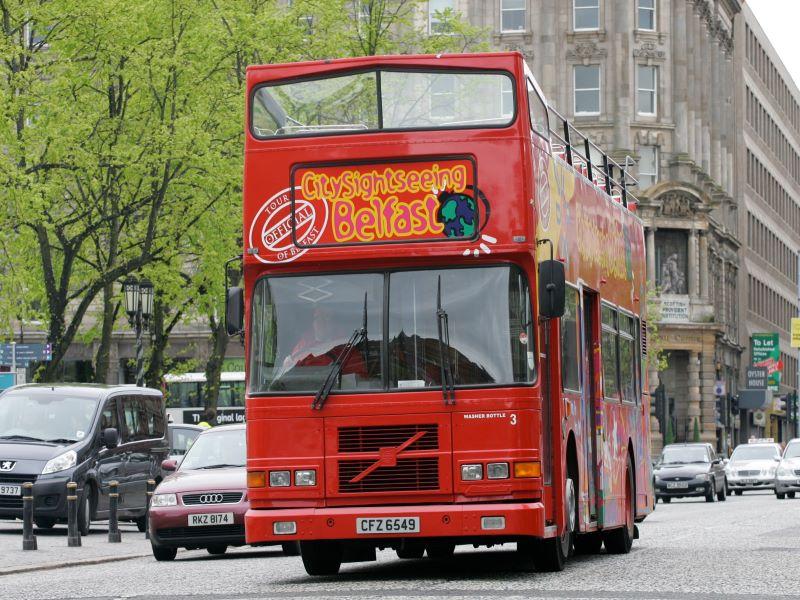 Sightseeing bus Belfast