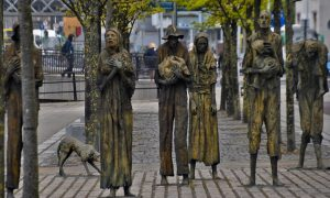 potato famine memorial in dublin