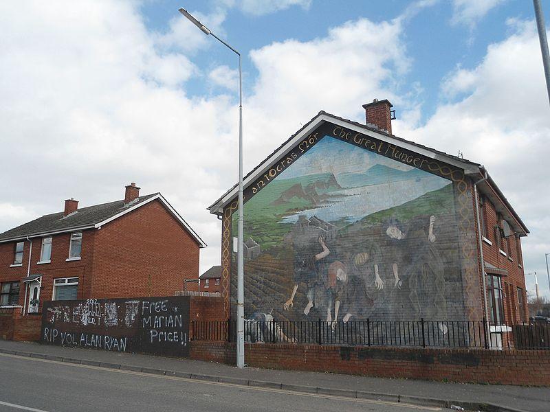 Irish Potato Famine mural