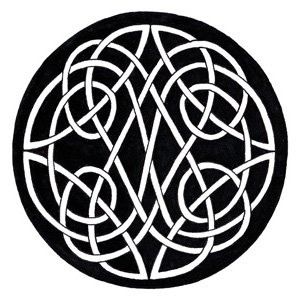celtic knot two part circle