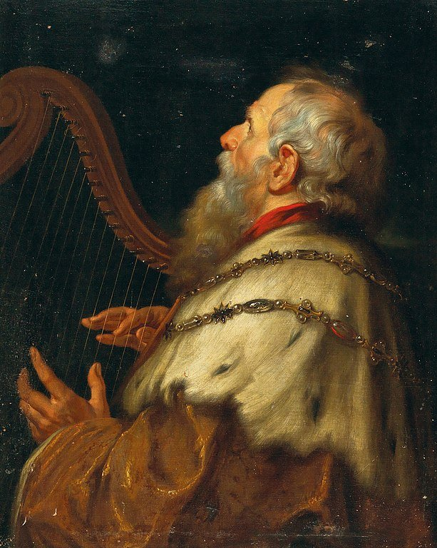 King David playing harp