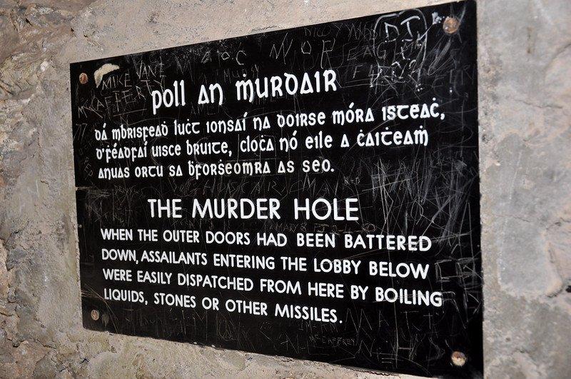 murder hole blarney castle